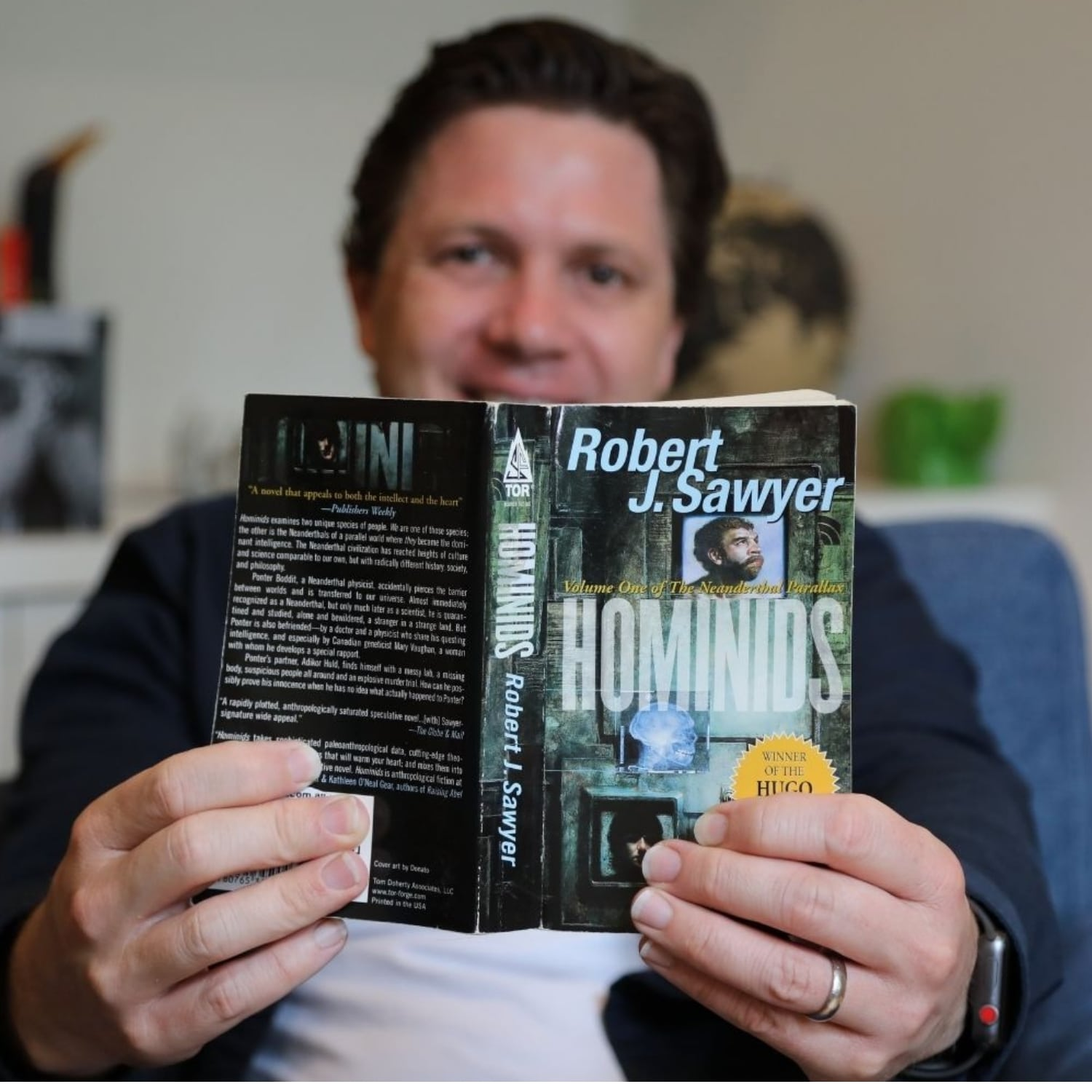 Futurists World book review Robert J Sawyer Hominids